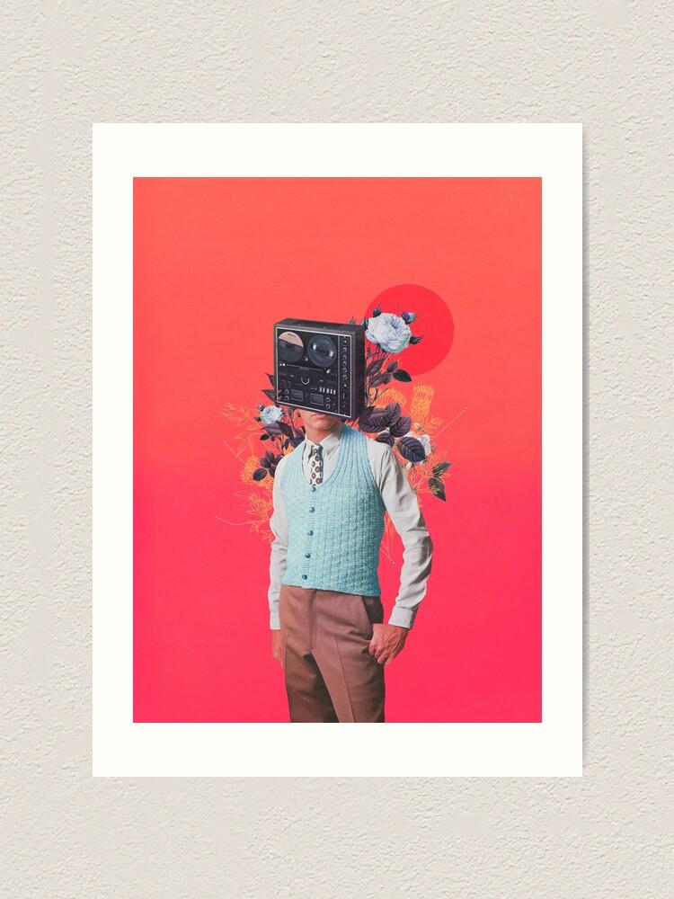 Alternate view of Phonohead Art Print