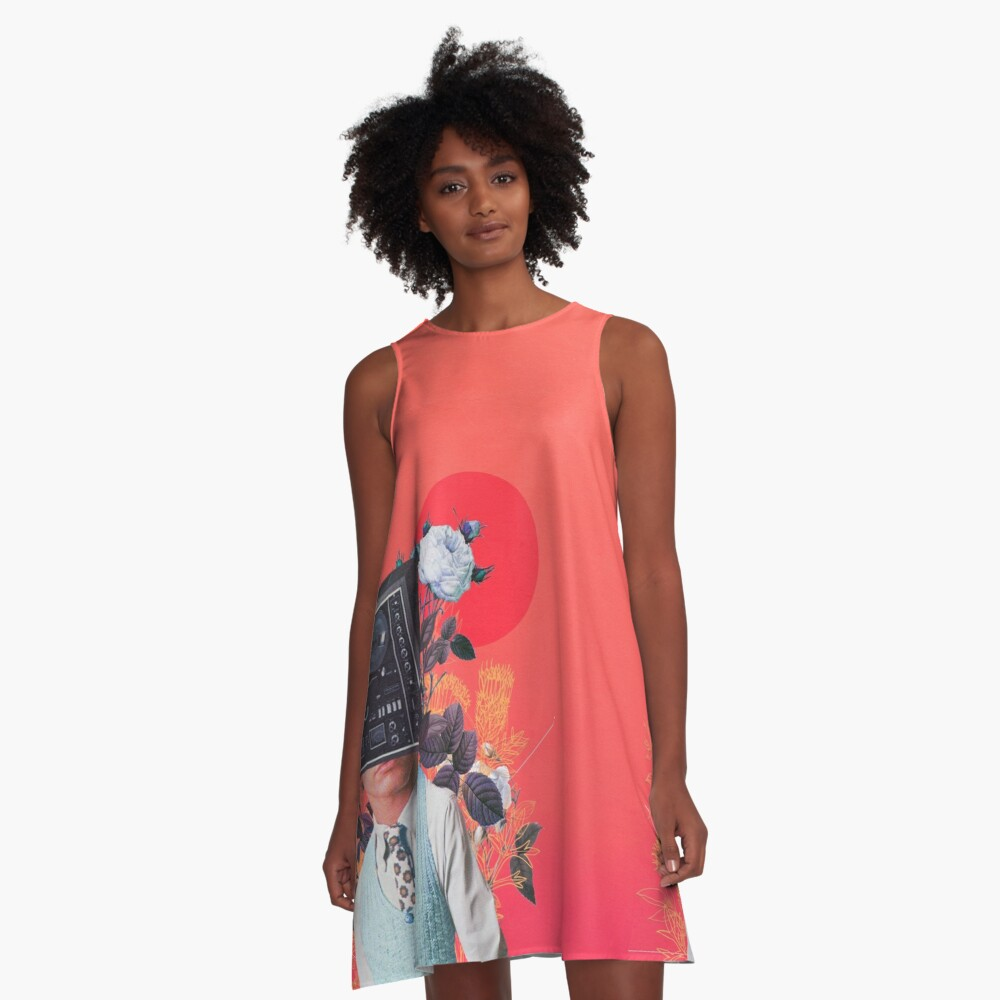 Phonohead A-Line Dress