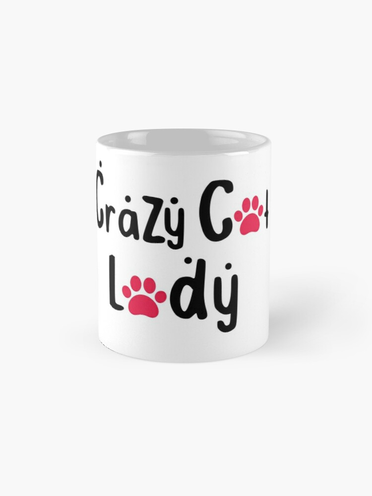 'Crazy Cat Lady: Funny Cat Lover T-Shirt' Mug by Dogvills