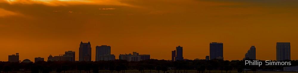 Orlando Skyline Panoramic by Phillip  Simmons