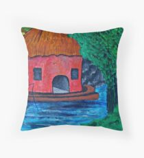 Angling for something Throw Pillow