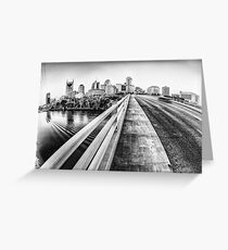 Road to Nashville in Black and White Greeting Card