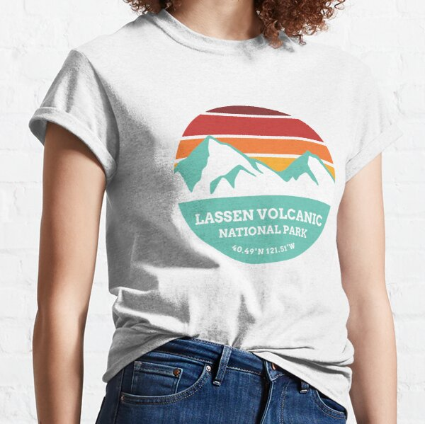 Lassen Volcanic National Park Retro Sticker  Classic T-Shirt
