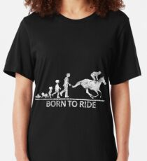 Born to ride - Born to ride - sport motive Slim Fit T-Shirt