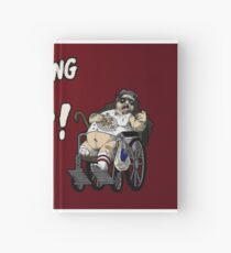 Mr. Plinkett - What's Wrong With Your Face - Red Background Wheelchair Hardcover Journal