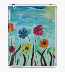 Flies hovering around Anemones  iPad Case/Skin