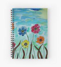 Flies hovering around Anemones  Spiral Notebook