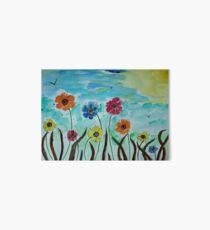 Flies hovering around Anemones  Art Board