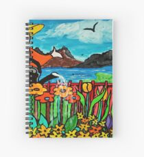 Watering the flowers Spiral Notebook