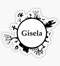 Halloween name Gisela Sticker