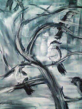 Birds on a branch by Conrad Bo