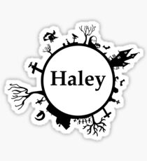Halloween name Haley Sticker