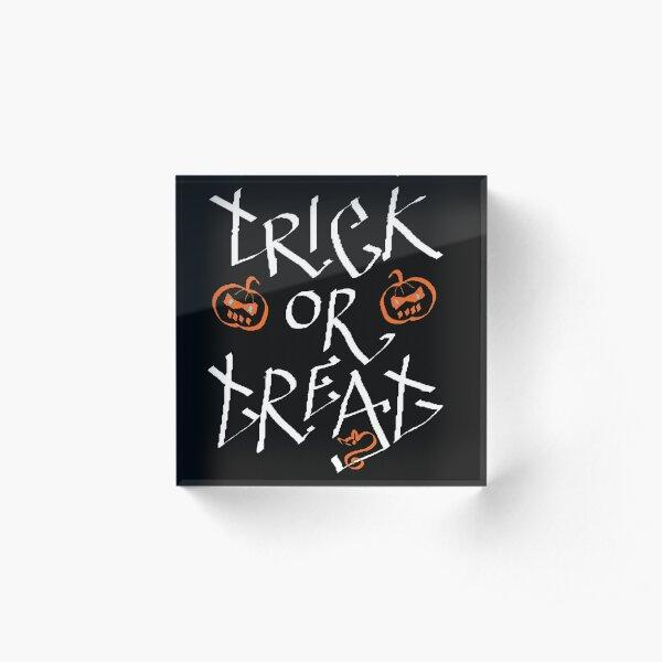 Trick or Treat pumpkin Acrylic Block