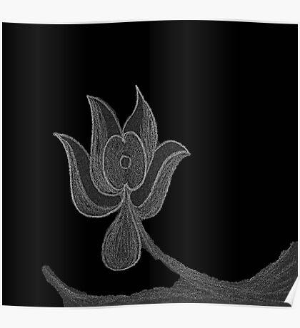 Lonely Dark Flower Poster