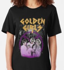 Golden Metal Girls Slim Fit T-Shirt