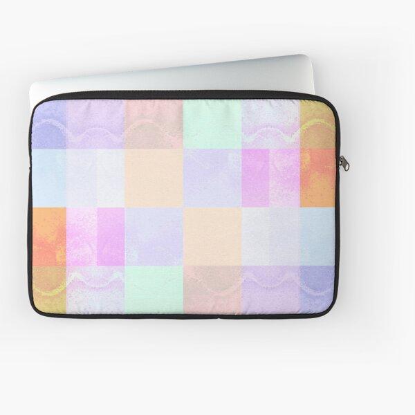 Marbled Pastel Checks Laptop Sleeve