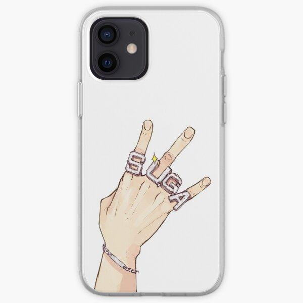 anillos grandes (de color) Funda blanda para iPhone