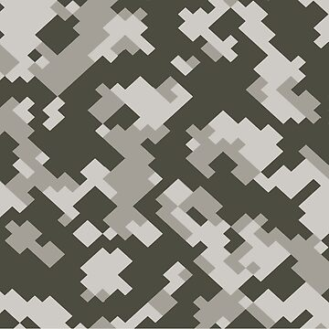 Camouflage Pixel Pattern by MightyOwlDesign