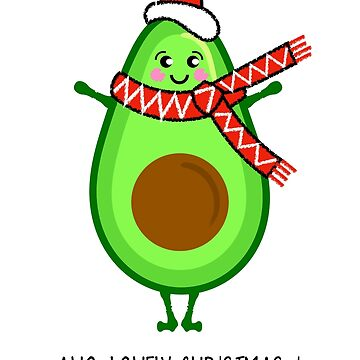Avocado Christmas Illustration by AdamRegester