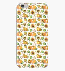 Pumpkin Sunflower Pattern iPhone Case