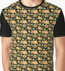 Pumpkins and Sunflowers Graphic T-Shirt