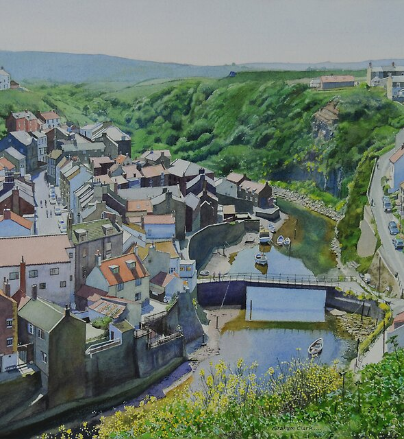 Staithes viewed from Cowbar by Graham Clark