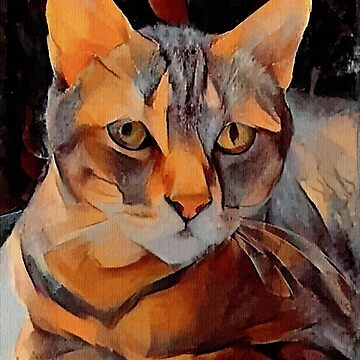 Mimosa - Léa Roche paintings - cat, cat, gato by LEAROCHE