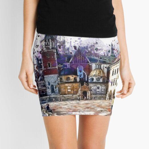Cracow Wawel art Mini Skirt