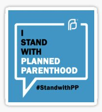 i stand with planned parenthood Sticker