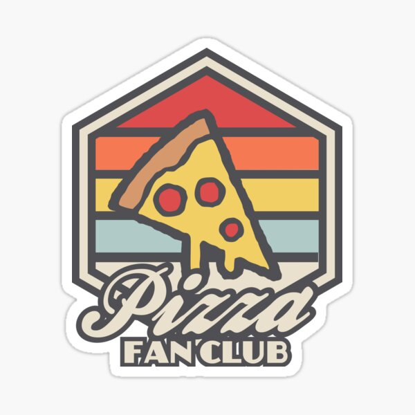 Pizza fan club  Sticker