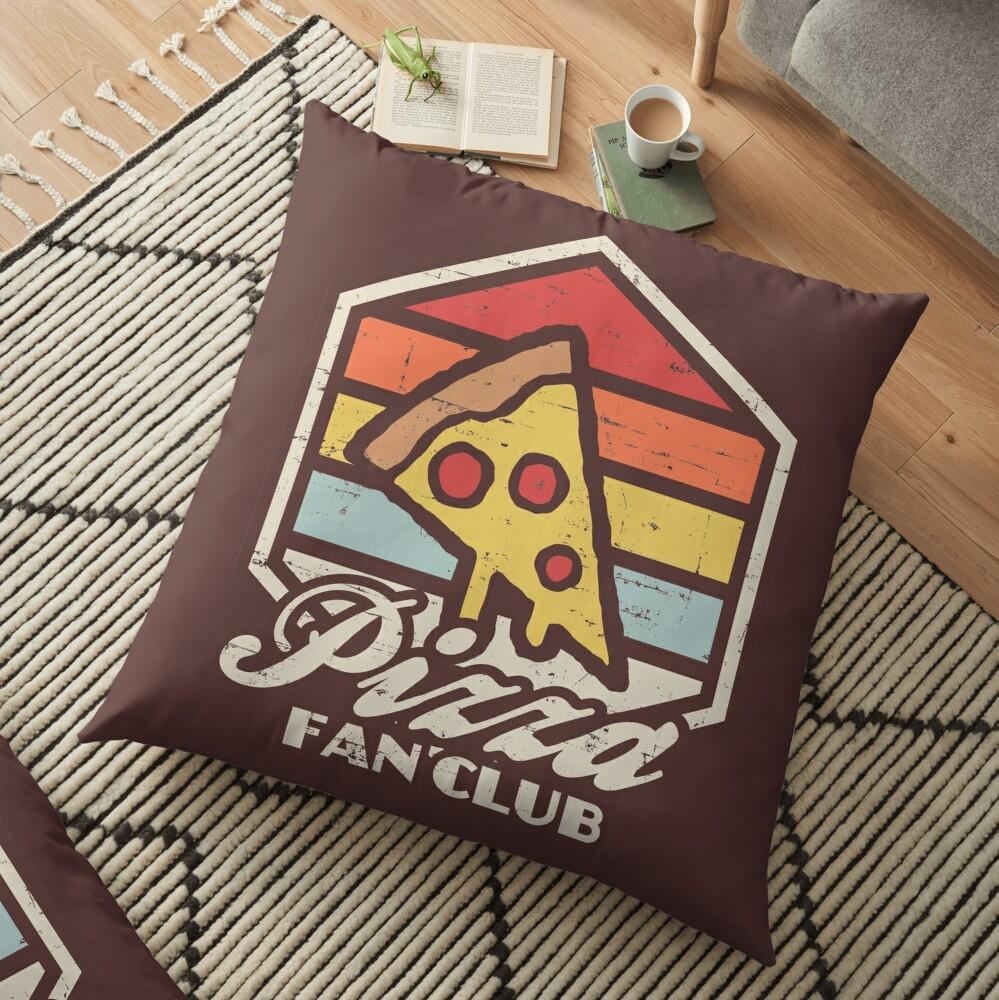 Pizza fan club  Floor Pillow