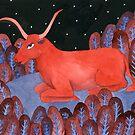 Taurus - Zodiac illustration astrology series by zsalto