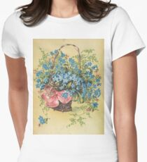 Blue Flowers Women's Fitted T-Shirt