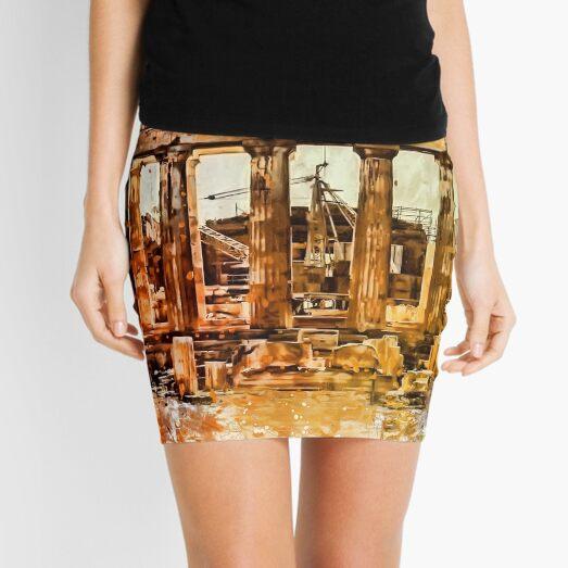 The Acropolis Of Athens Mini Skirt