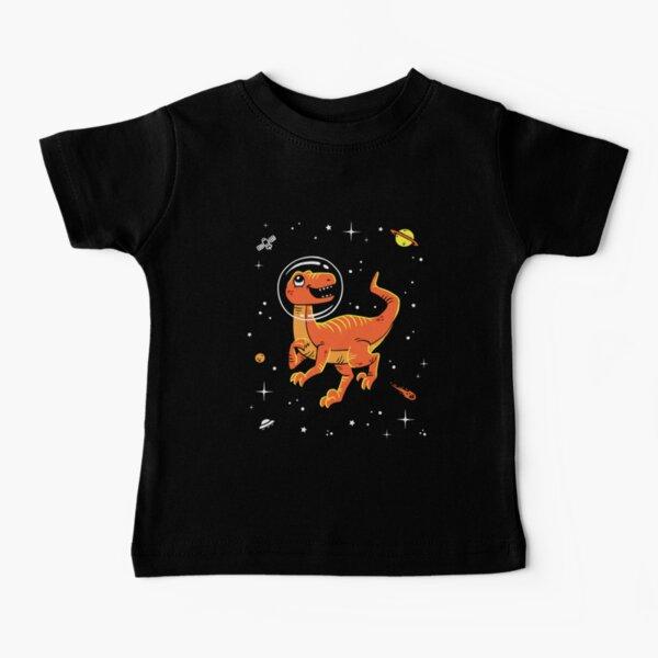 Velociraptor In Space T-Shirt - Cool Dinosaur Tee Baby T-Shirt