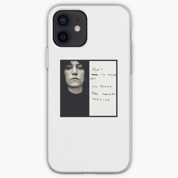 Patti Smith - Portrait & Quote with handwriting iPhone Soft Case