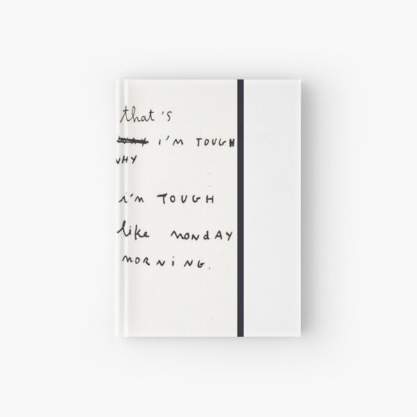 Patti Smith - Portrait & Quote with handwriting Hardcover Journal
