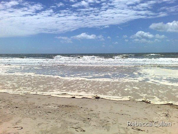 Woorim Surf Beach, Bribie Island by Rebecca Cullen