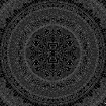"""January Mandala 2018"", by Brock Springstead by springstead"
