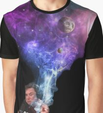 Elon Musk smoking outerspace weed Graphic T-Shirt
