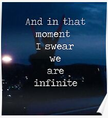 We Are Infinite--The Perks of Being a Wallflower Poster