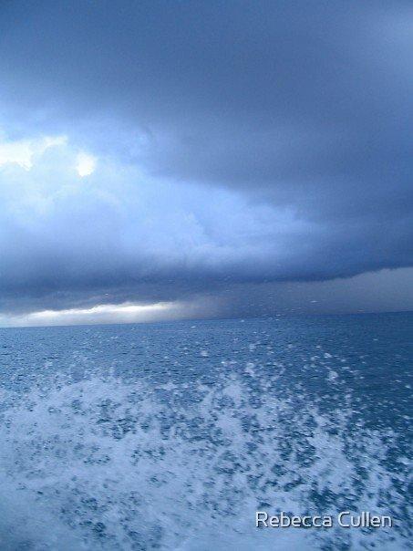 Playa Del Carmen, Storm by Rebecca Cullen