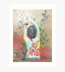 splattered (collaboration with Shelly Hiebert) Art Print