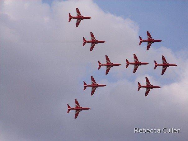 Red Arrows by Rebecca Cullen