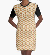 Pattern Pumpkins Graphic T-Shirt Dress