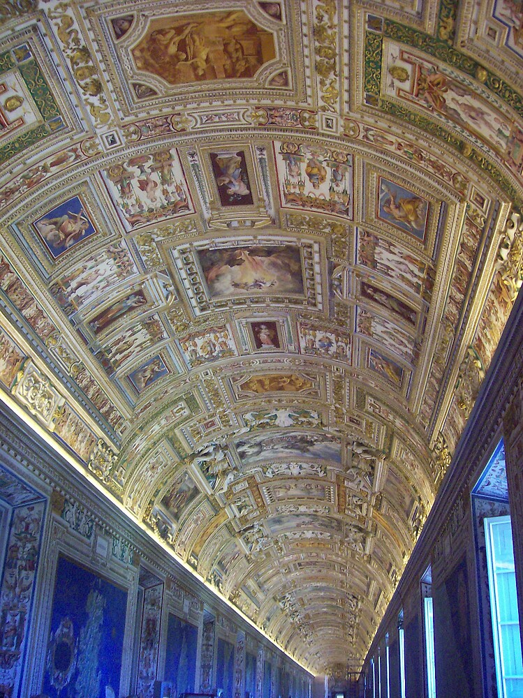 ceiling, Vatican by cassandragrj