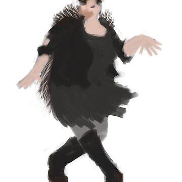 Rebellious Dancing Hedgehog by marvellyous