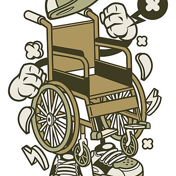 Wheelchair Illustration Cartoon Guy by wearitout