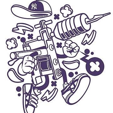 Cool Tattoo Machine Cartoon Artwork by wearitout