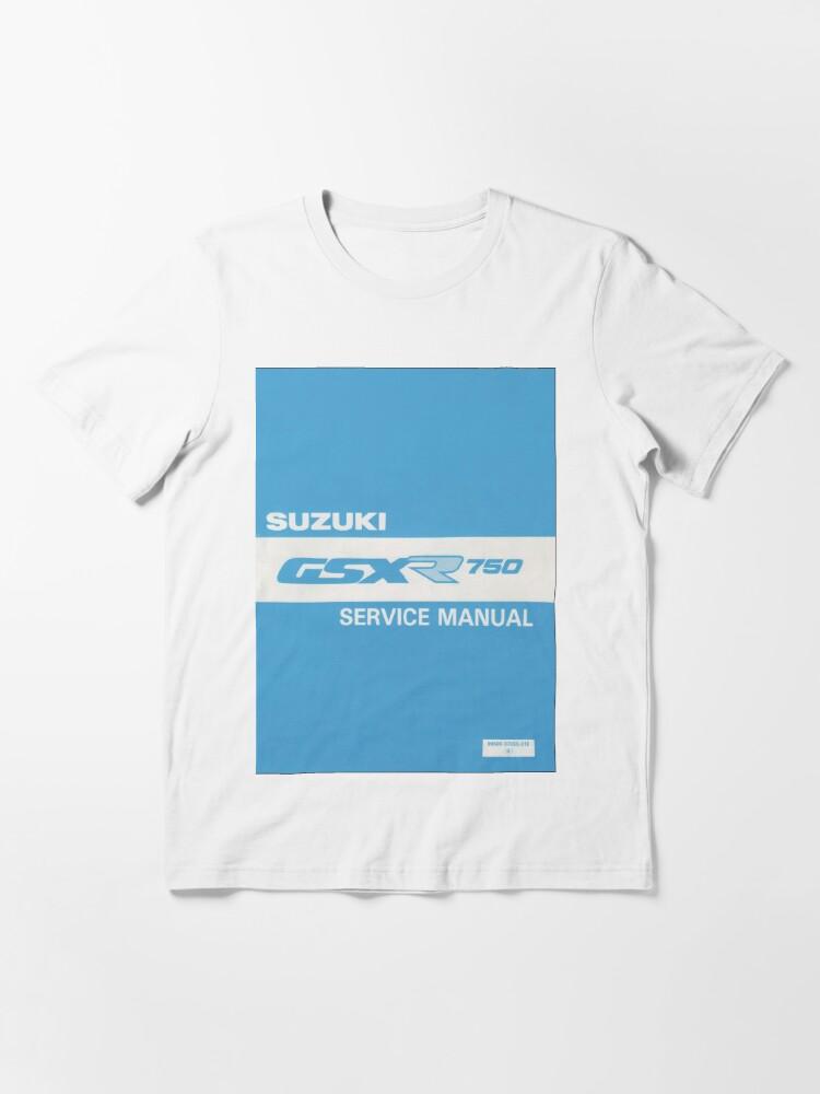 Alternate view of Suzuki GSXR 750 user manual Essential T-Shirt